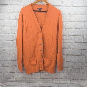 Lands End women's Long Cardigan sweater size L